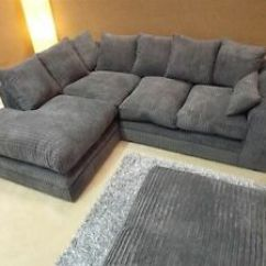 Grey Fabric Sofa Uk Next Wilson Teal New Beautiful Sasha Jumbo Cord Corner Image Is Loading