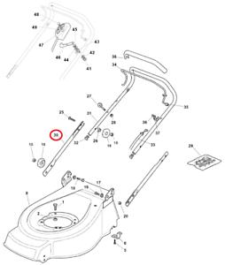 Mountfield 462R HP Single Lower Handle 381006973/0 Genuine
