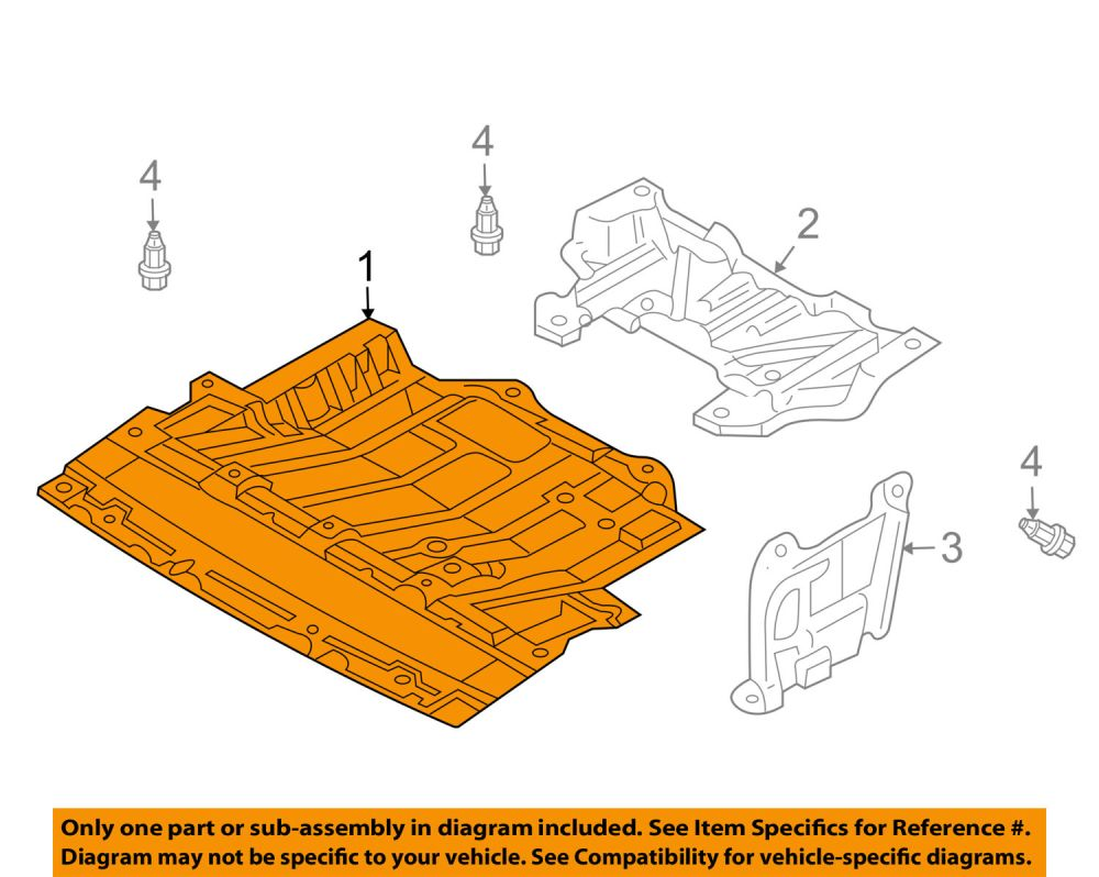 medium resolution of nissan oem 03 09 350z splash shields lower cover 75892cd00a for sale 03 350z parts diagram engine covers