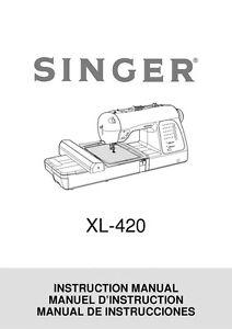 Singer XL-420-FUTURA Sewing Machine/Embroidery/Serger