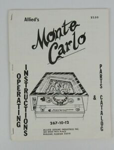 Allied's Monte Carlo Arcade Game Operating Instructions