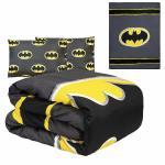 Dc Comics Batman Emblem 3 Piece Reversible Queen Size Comforter Set Gray Black For Sale Online