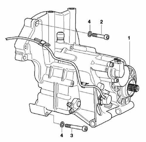 BMW R850C CUSTOM 1997-2000 gear box stainless allen screw