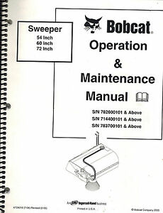 BOBCAT 54 INCH 60 INCH 72 INCH SWEEPER OPERATION