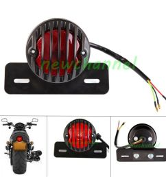 details about round motorcycle led tail light license plate for bobber cafe racer clubman new [ 1000 x 1000 Pixel ]