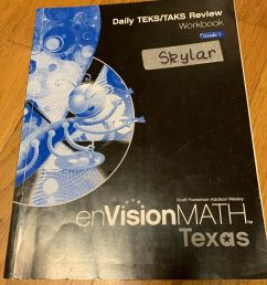 1st Grade Math Workbook - Texas EnVision MATH - Daily TEKS/TAKS Review  Workbook for sale online [ 1600 x 1356 Pixel ]