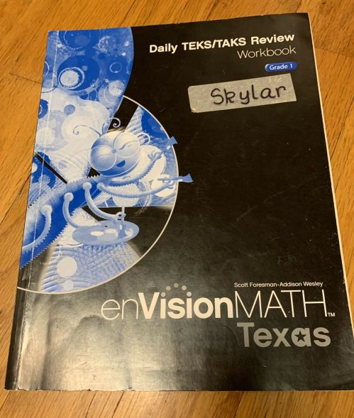 small resolution of 1st Grade Math Workbook - Texas EnVision MATH - Daily TEKS/TAKS Review  Workbook for sale online