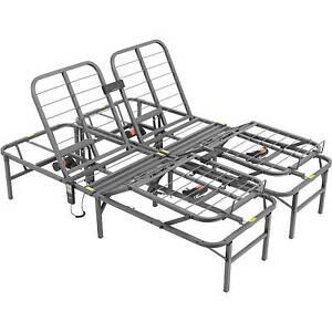 Steel King Size Split Adjustable Remote Electric Lift Bed