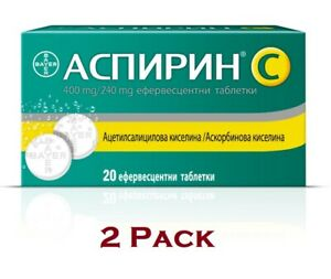 2 PACK of BAYER Effervescent Tablets + C for Headache Pain ...