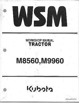 Kubota M8560, M9960 Tractor Workshop Service Repair Manual