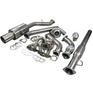 T3 GT35 Turbo Manifold CatBack Downpipe Kit For Datsun 510
