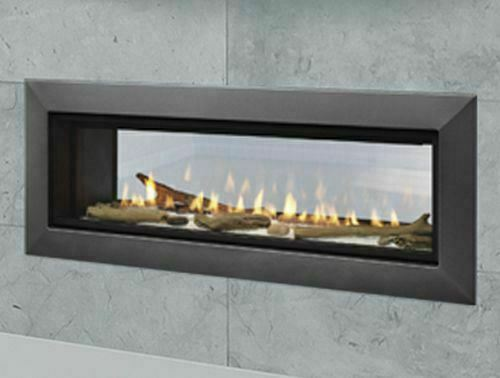 majestic echelon ii 48st multi sided gas fireplace with led lights remote for sale online ebay
