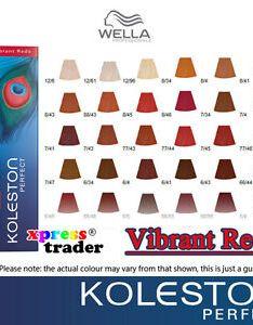 Wella koleston perfect permanent hair color dye  also vibrant reds rh ebay