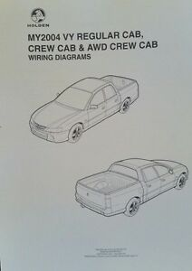 HOLDEN GM VY-VZ UTE SS Crewman Electrical Wiring Diagrams