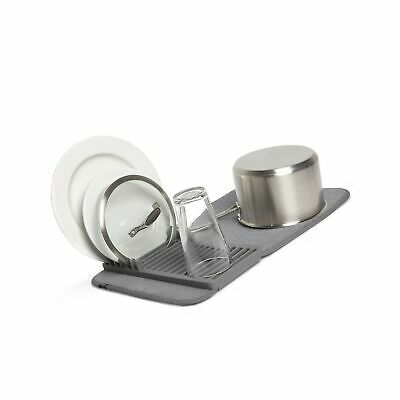 umbra udry mini dish rack and drying mat charcoal 20 x 13 ebay