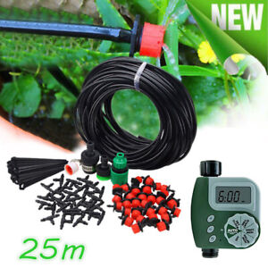 25m Manual/Automatic Drip Irrigation System Plant kit Watering Garden Lawn Hose   eBay