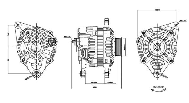 Alternator TYC 2-13898 fits 00-03 Mitsubishi Galant 2.4L