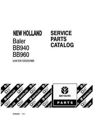 NEW HOLLAND BB940 BB960 BALE SN 237999 &BELOW PARTS