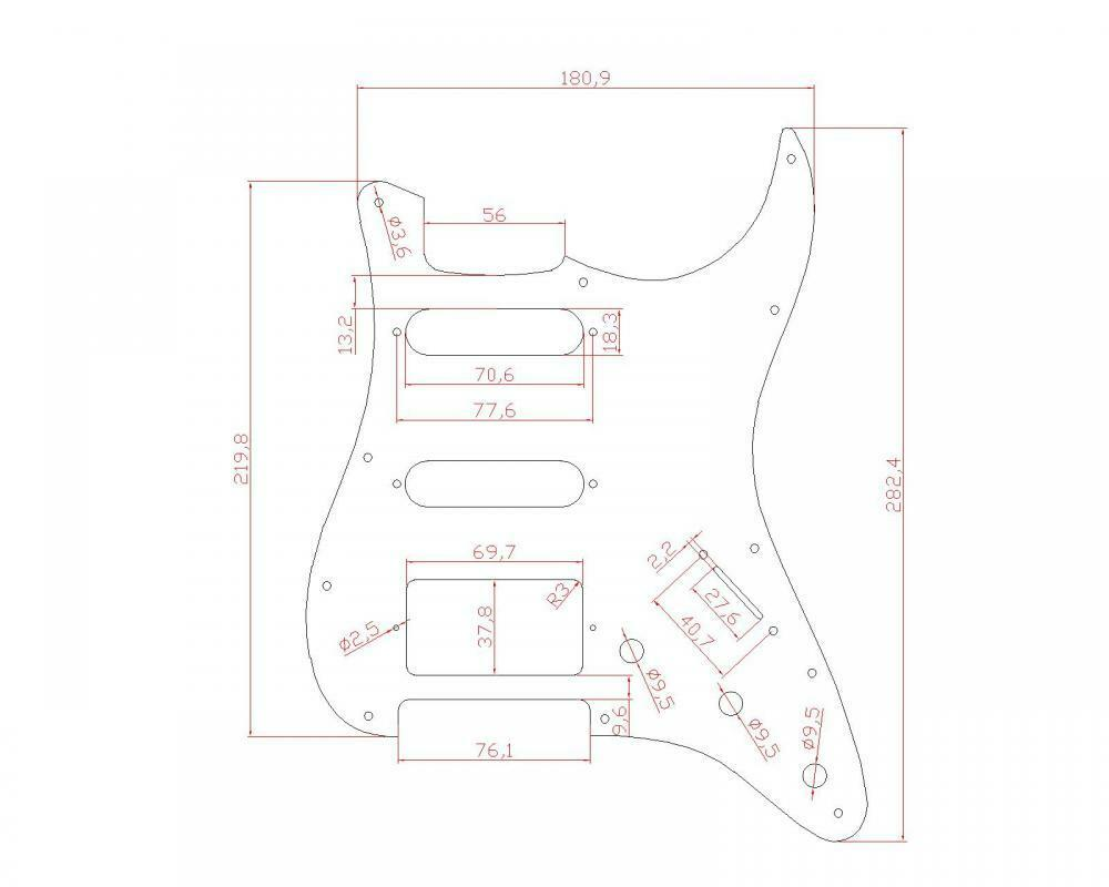 Guitar Pickguard Scratch Plate For Fender Strat Parts