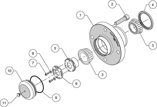 Wilwood forged aluminum ProHub Kit,fits 1990-2005 Mazda