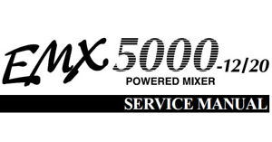 YAMAHA EMX5000-12 EMX5000-20 POWERED MIXER SERVICE MANUAL
