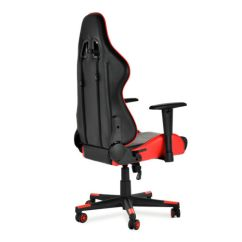 Racing Office Chairs Game Table Gaming Chair Ergonomic High Back Leather W 4 Of 12 Armrest Red