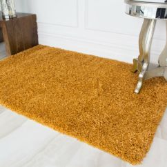 Bright Colored Living Room Rugs Ashley Furniture Sets Sale Ochre Mustard Yellow Gold Shaggy Area Rug For Picture 2 Of 7