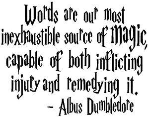 Harry Potter Magic Albus Dumbledore QUOTE truck car window
