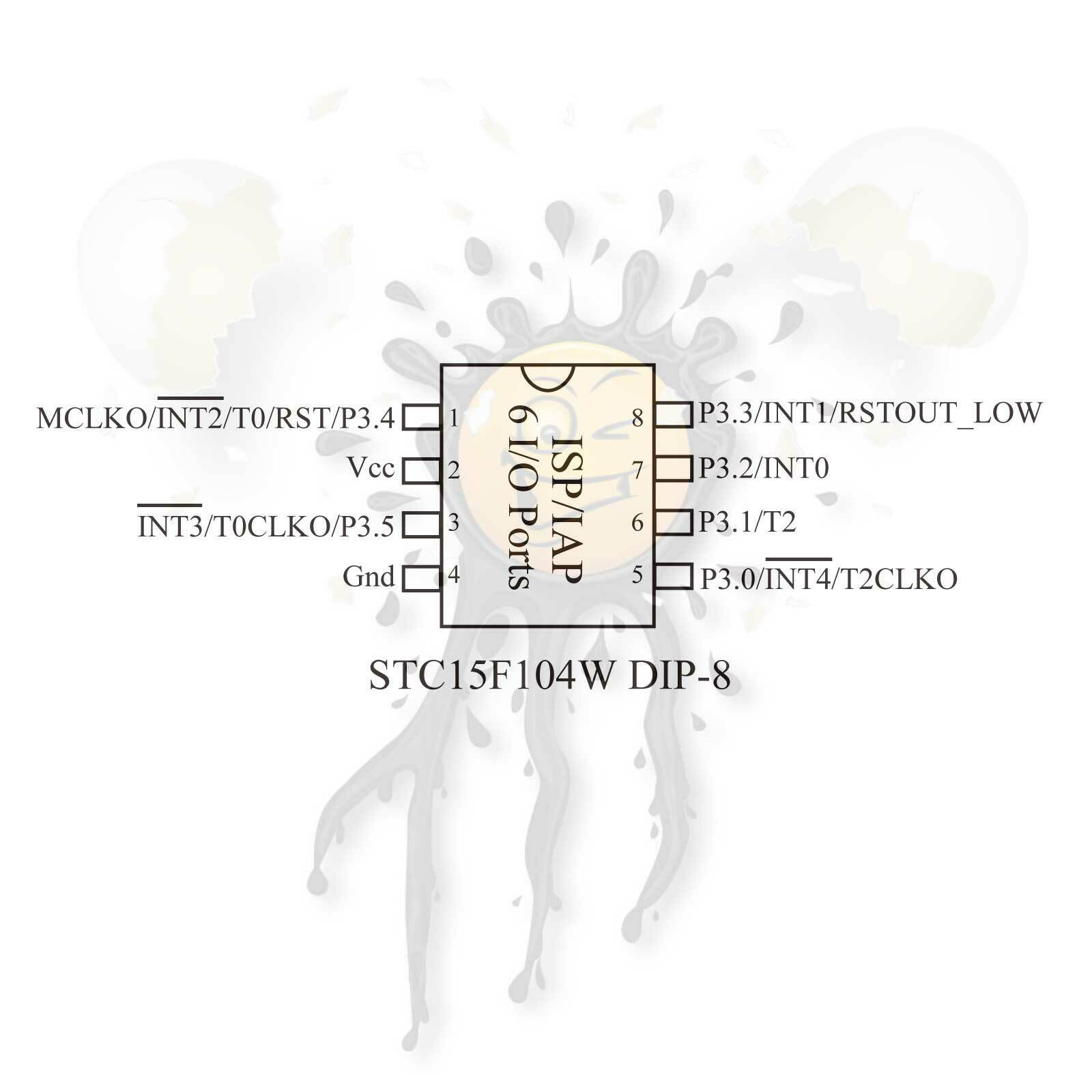 Stc15f104w 4 2 5 5v Stc15l104 2 4 3 6v Single Chip