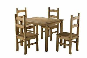 pine kitchen table equipment repair corona small mexican dining 4 chairs solid wood budget image is loading amp