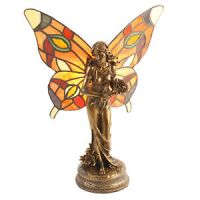 Art Deco vintage Tiffany stained glass fairy lady figurine ...