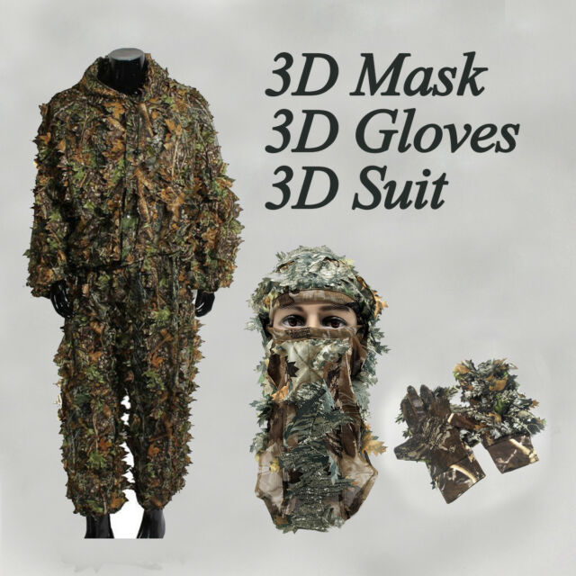 3d camouflage leaf clothing