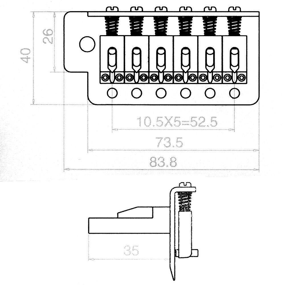 1 Set Electric Guitar Tremolo Bridge Single Locking System