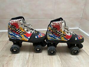 details sur roller quad american rollet skate roller taille 38 patin roulette vintage