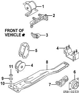 Full Engine Mount Set for Suzuki SX4 2007-2009 2.0L Manual