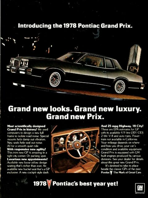 1978 Pontiac Grand Prix : pontiac, grand, PONTIAC, Grand, Black, 2-door, Coupe, Photo