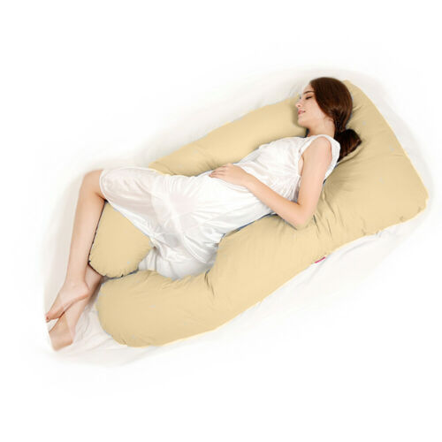 u shaped full body pillow pregnancy pillow maternity support belly contoured bed pillows home garden