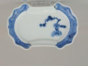 Arita Edo Period 17th or Eraly 18th C Plate Japanese Porcelain Dish Pine