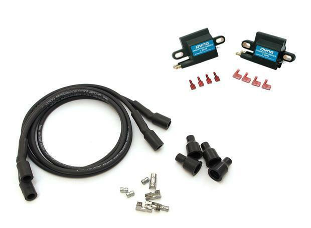 Dyna Ignition 3 ohm Dual Mini Coil DC1-2 Wires DW-800