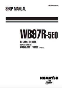 Komatsu Backhoe Loader WB97R-5EO Shop, Service, Repair