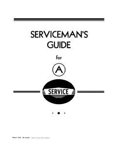 International Harvester Serviceman's Guide for Farmall A