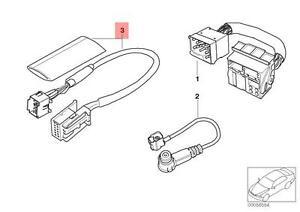 Genuine BMW E39 E46 E53 Cabrio Coupe Adapter cable CD