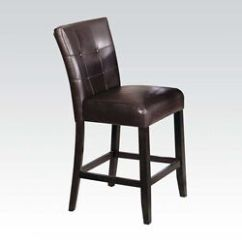 High Chair Wooden Legs Steel Visitor Baldwin Set Modern Chairs Back Cushion Espresso Finish Image Is Loading