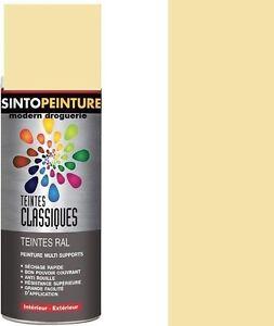 details sur bombe aerosol peinture antirouille ivoire beige campagne brillant ral 1015 sinto