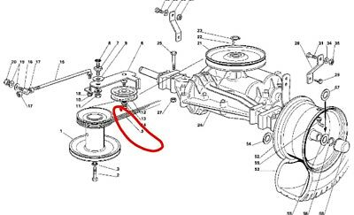 Castel garden manual transmission drive belt 28