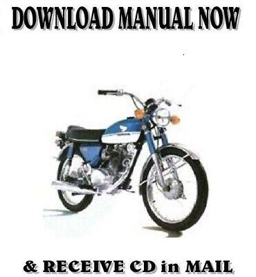 Honda CB100 CB125 SL125 factory repair shop manuals on CD