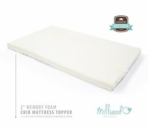 Image Is Loading Milliard 2 Inch Ventilated Memory Foam Crib Toddler