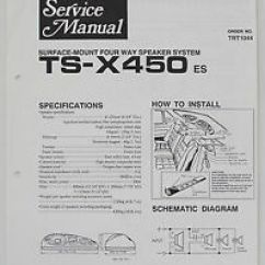 Hpm 770 Wiring Diagram John Deere Lawn Tractor Ignition Switch Pioneer Ts X450 4 Way Speaker System Service Manual Guide Image Is Loading