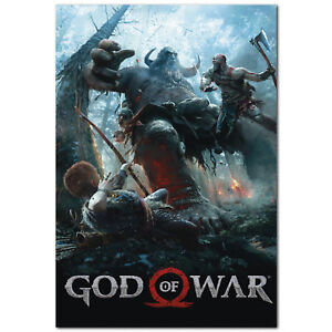 details about god of war poster ps4 exclusive 2018 high quality prints