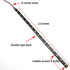 6 Pack DC 12V Waterproof 1Ft 15 LED Strip Underbody Light